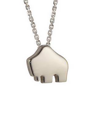 Handcrafted 14-karat white gold Small Queen Buffalo