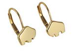 Handcrafted 14-karat yellow gold Baby Buffalo