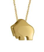 Handcrafted 14-karat yellow gold Queen Buffalo