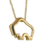 Handcrafted 14-karat yellow gold Silhouette Buffalo