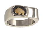 Handcrafted 14-karat white gold men�s ring