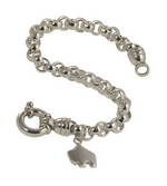 Handcrafted 7in sterling silver toggle bracelet